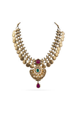 MULTI KUNDAN ANTIQUE NECKLACE SET