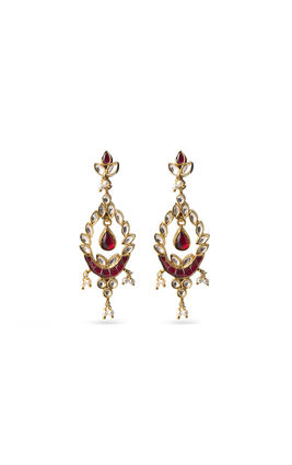 RED TAKKAR & KUNDAN EARRINGS