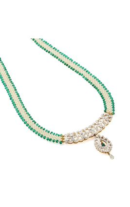 CZ DIAMOND HALF GUTHANI NECKLACE SET