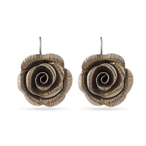 925 silver flower earrings