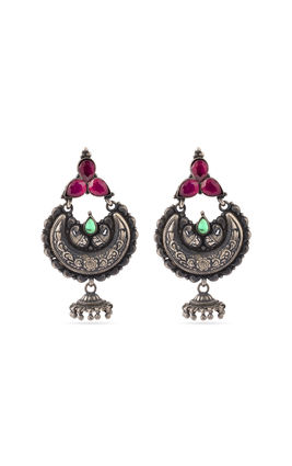925 silver stone temple earrings