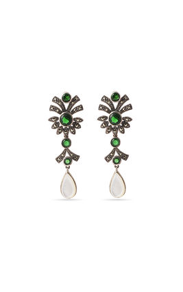 Green stone marca earrings