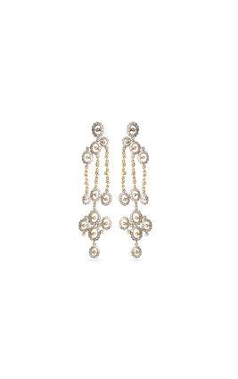 Gold silver polish CZ earrings