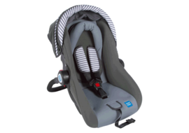 Mee Mee Forward Facing Baby Car Seat Cum Carry Cot with Thick Cushioned Seat & Head,  blue