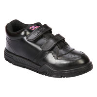 Rex Gola Black Velcro School Shoes, 7c