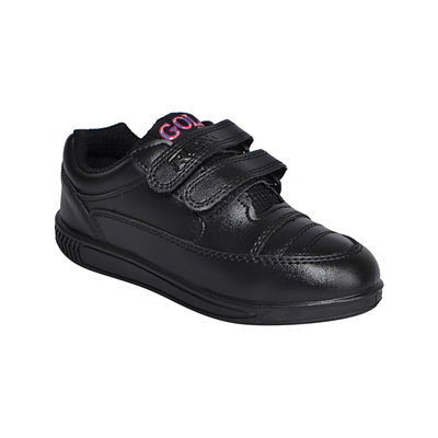 Rex Smart Gola 1260 Black Velcro School Shoes, 6