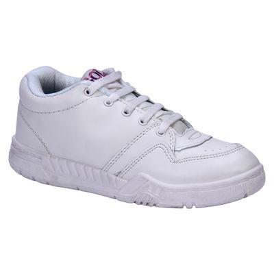 Rex Gola White Lace-up School Shoes, 2
