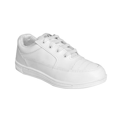 Rex Smart Gola White 1258 Lace-up School Shoes, 8