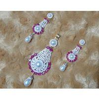 Beautiful American diamond Pendant set-PD052