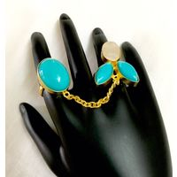 Dual finger ring for women - RG055