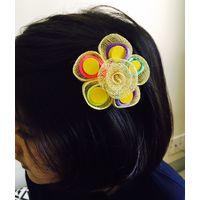 Kids hairclip in jute-KC007