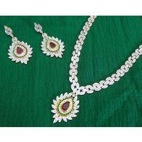 Bridal American diamond set-NL029