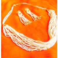 Pearl strings necklace-NL053