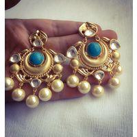 Kundan earrings for women - KEG156