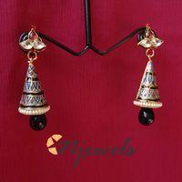 Kundan and meenakari earrings-ME033