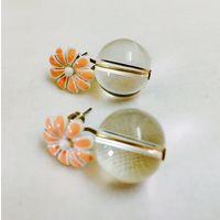 Peach ear studs-EG154