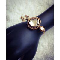 Adjustable size kundan bracelet - BL033