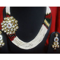 Beautiful AD Kundan Neckalce Set- NL046