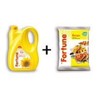 Combo of Sunflower Oil 5 lt jar+ Besan 1 kg pouch