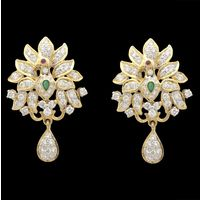 Diamond Earrings, 1.41cts, 18k 10.33gms, e/f-vvs