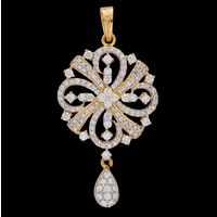 Diamond Pendant, 1.64cts, 18k 6.45gms, e/f-vvs