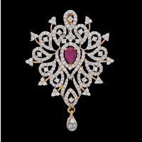 Diamond Pendant, 1.56cts, 18k 5.35gms, e/f-vvs