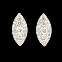 Diamond Earrings, 0.29cts, 18k 2.40gms, e/f-vvs