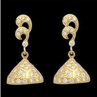 Diamond Earrings, 0.60cts, 18k 5.89gms, e/f-vvs