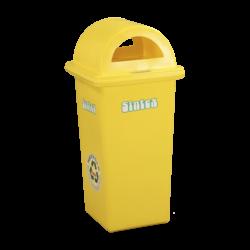 Rectangular waste bins, 80 litres, midnight blue