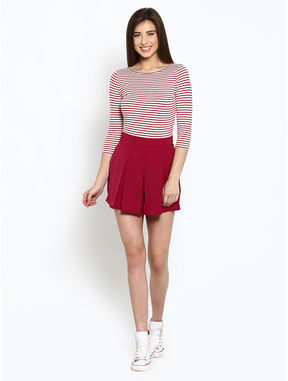 Plum Box Pleated Skorts, m, plum