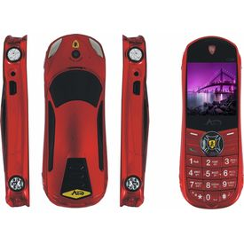 Agtel Ferrari Car Model Dual Sim Mobile Phone in Red Colour