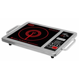 Surya Infrared Ray Induction Cooktop Model DZ18-PS in Crystalline Glass Plate Black