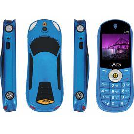 Agtel Ferrari Car Model Dual Sim Mobile Phone in Blue Colour