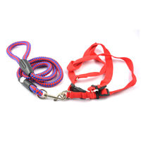 Easypets TRUECHOICE Adjustable Braided Round Rope Dog Leash (Large) (Red)
