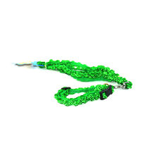 Easypets CASUAL Adjustable small Pet cat leash with collar fancy (Green)