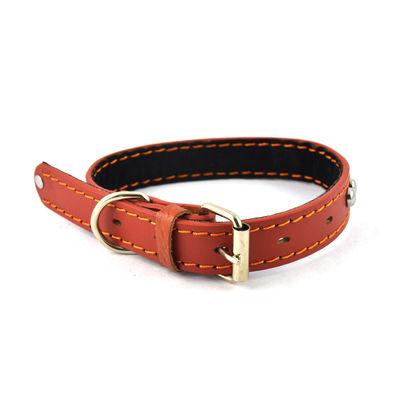Easypets DURALEAT Dog Collar (Medium) (Brown)