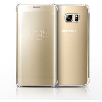 SAMSUNG GALAXY S6 EDGE PLUS CLEAR VIEW,  gold