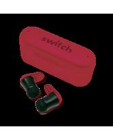 SWITCH TRUBUDZ STYLE TRUE WIRELESS EARBUDS,  red