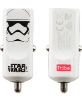 TRIBE MONO USB CAR CHARGER 2.4A STORM TROOPER,  white