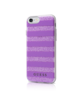 GUESS IPHONE 7 / IPHONE 8 BACK CASE WITH STRIPES,  purple