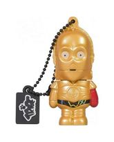 TRIBE USB FLASH DRIVE 16GB STAR WARS TFA C3PO ARM,  gold