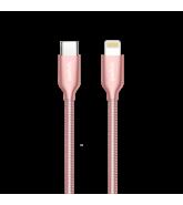 SWITCH PREMIUM METALLIC TYPE-C TO LIGHTNING CABLE 1.2M, ROSE GOLD,  rose gold