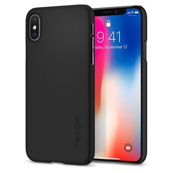 SPIGEN IPHONE X BACK CASE THIN FIT,  matte black