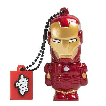 TRIBE USB FLASH DRIVE 16GB IRON MAN,  red