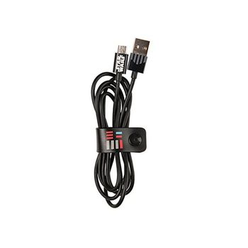 TRIBE MICRO USB CABLE 1.2 M DARTH VADER,  black