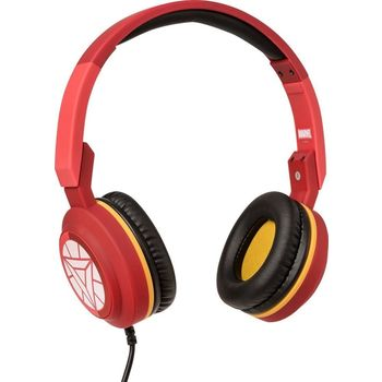 TRIBE ON EAR STEREO HEADSET IRON MAN,  red