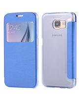 SAMSUNG GALAXY S6 LEATHER SVIEW,  blue