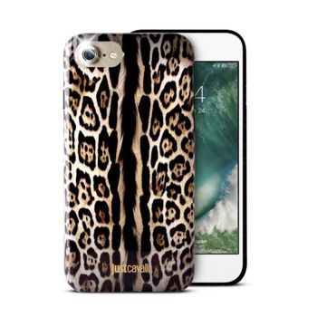 JUST CAVALLI IPHONE 7 / IPHONE 8 TPU BACK CASE LEOPARD SINGLE STRIPE