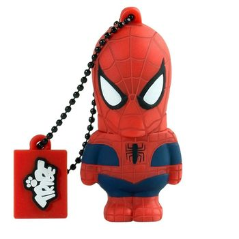 TRIBE USB FLASH DRIVE 16GB SPIDERMAN,  red