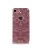 JUST CAVALLI iPhone 7 TPU Back Case Leo Zebra,  pink